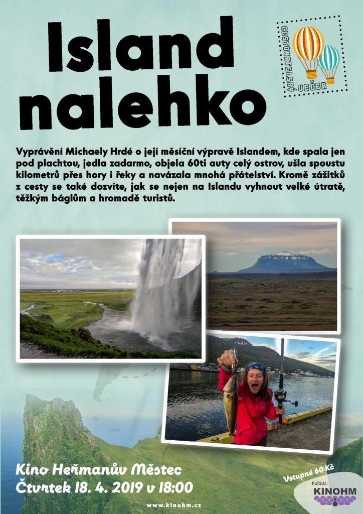 Island nalehko (Michaela Hrdá) - plakát