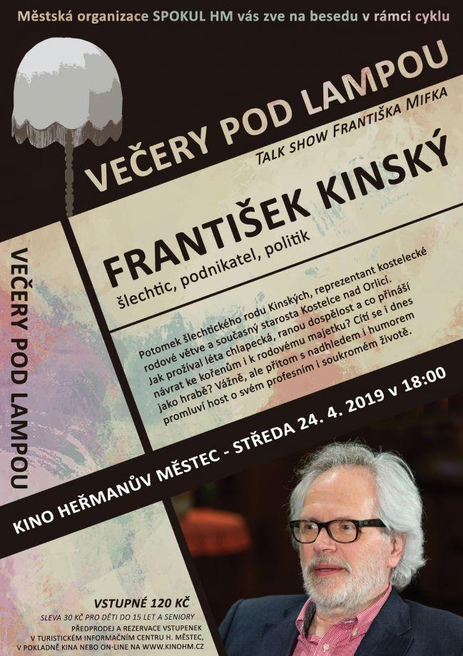 Večery podlampou – František Kinský