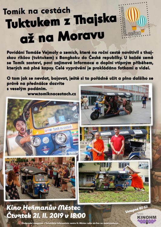 Tomík nacestách - Tuktukem zThajska ažna Moravu